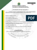 Carta de Patente - Canaletas