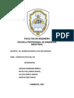 CODIGO DE ETICA DEL CIP - GRUPO 03
