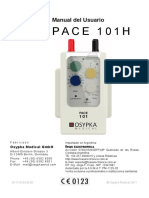 Manual de uso marcapasos Osypka Unicameral Mod. Pace-101