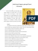 Acatistul Sfântului Ierarh Grigorie Al Nyssei