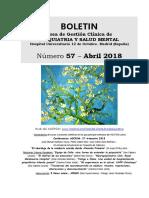 Boletín numero 57 - abril 2018