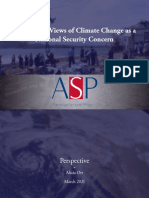 Presidential Views of Climate Change as a National Security Concern