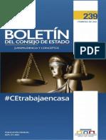Boletín del Consejo de Estado - Jurisprudencia y Conceptos - 239 - Febrero de 2021