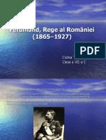 Ferdinand, Rege Al României