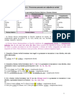 Ficha informativa pronomes pessoais em adjacência verbal
