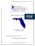 Mason-Dixon poll on DeSantis, February 2021
