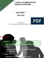 Elaboración de un programa de auditoría