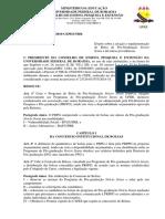 Resoluo n 013-2019- CEPE -Regulamenta o Programa de Bolsa de Ps-Graduao Stricto Sensu