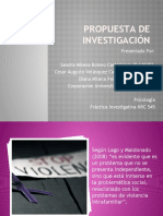 PRESENTACIÓN PROPUESTA DE INVESTIGACIÓN
