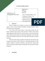 Kontak pembelajaran  MK Teknik Drainase