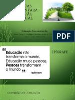 Políticas Nacionais para Educação Ambiental