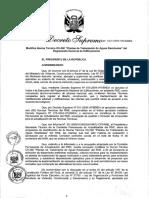 D.S. Nº 022-2009-VIVIENDA - Modifica Norma Técnica OS.090 Plantas de Tratamiento de Aguas Residuales del RNE