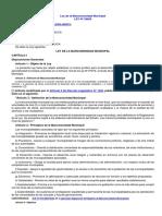 Ley Nº 29029 - Ley de la Mancomunidad Municipal, modif Ley Nº 29341, D.L. Nº 1445