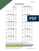North Adams School Calendar 2021-22