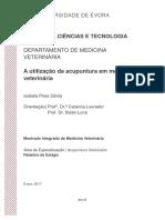 Imprimir - A Utilização Da Acupuntura Em Medicina Veterinária