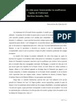 Martine Heredia - Une esthétique du vide pour transcender la souffrance