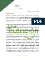 Carta Presentación Corporativa Herbalife