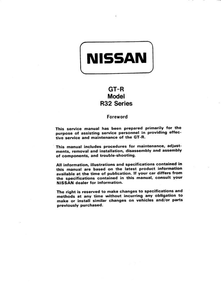 bnr32 service manual bookmarked belt mechanical engineering rh scribd com Built RB20DET RB20DET Horsepower