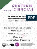 Deconstruir Las Ciencias. Marina Alonso