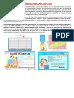 Control Prenatal Trabajo-parto y Cesarea