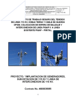 002 Pts Tendido de Linea 115 Kv, Doble Terna y Cable de Guarda Opgw. Listo