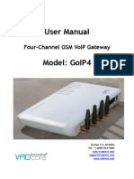 GoIP4 - User Manual v1.0