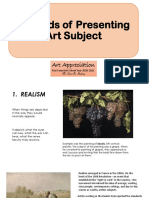 Module 1 Unit 3 Methods of Presenting Art Subject and Meanings in Art PDF