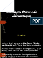 Introd.ADM - Abordagem Classica da ADM