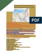 Os 42 Acampamentos de Israel Durante sua Peregrinação no Deserto