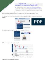 Como editar o seu perfil de usuário no Planeta ADM