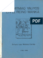 1989 - Mallma Cortez, Arturo Luis - Los Mitmaq Yauyos en El Reyno Wanka