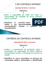 Aquisição B & S Objectivos e Critérios de Controlo (1)