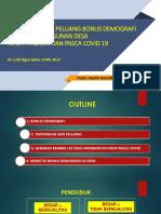 Lutfi Agus Salim - Tantangan Dan Peluang Bonus Demografi Dalam Pembangunan Desa - 1st PHSM 2020
