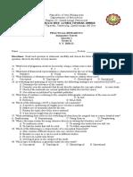 4th Summative Tests Q1