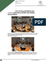 Maura Magrini nuova Presidente dell'Erdis - Cronachefermane.it, 2 marzo 2021