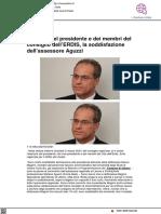 Elezioni Erdis, la soddisfazione dell'assessore Aguzzi - Vivereurbino.it, 2 marzo 2021