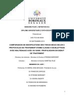 Memoire Pour l Obtention Du Diplome Universitaire d Orthodontie. Présenté Par Cao Thi Hai Diem 09 Septembre 2013