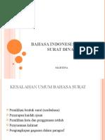 Bahasa Indonesia dalam surat dinas