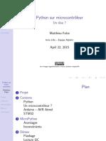 www.cours-gratuit.comArduino et Python projet