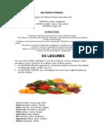 matérias primas-resumo