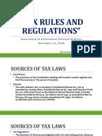 Part 1 - Tax Rules & Regulations