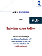 Aula01 BioqII Qui Nucleotídeos e DNA