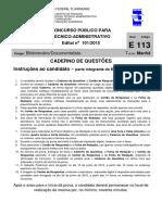 UFF Edital 101 2015 Bibliotecario