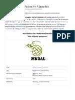 Movimiento de Países No Alineados - Wikipedia, la enciclopedia libre