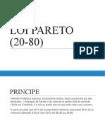 3- Outils Qualite - Loi Pareto (20-80)