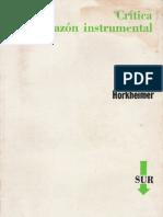 Horkheimer, M[1]._ Crítica de la razón instrumental