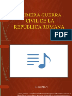 Primera Guerra Civil de La Republica Romana [Autoguardado]