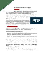 PRINCIPALES REPRESENTANTES DEL SOCIALISMO (1)