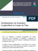 Aula 024 - Detalhamento da Armadura Longitudinal ao Longo da Viga-f