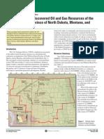 ND Bakken Oil-Gas Reserves Assessement - USGS 2008